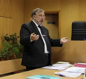 Виктор Березин в зале суда