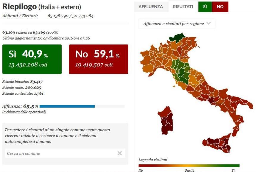 Итоги голосования на карте